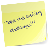 post-it note link to editing challenge